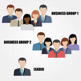 Business people group flat vector illustration Royalty Free Stock Photo