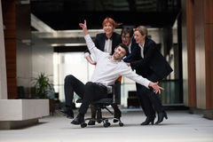 Business people group have fun Royalty Free Stock Photos