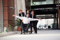 Business people group have fun Royalty Free Stock Photography