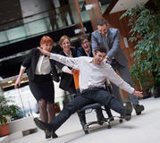 Business people group have fun Royalty Free Stock Images