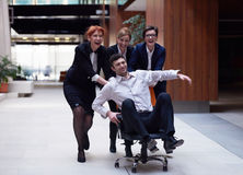 Business people group have fun Royalty Free Stock Photo