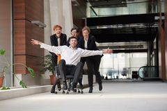 Business people group have fun Stock Photo