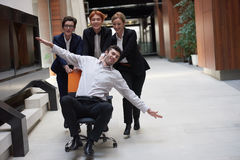 Business people group have fun Stock Photos