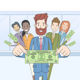 Business People Group Hold Dollar Banknote Concept Finance Investment Royalty Free Stock Image