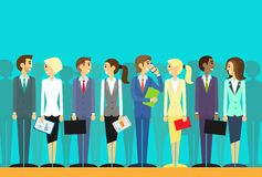 Business people group human resources flat vector Royalty Free Stock Photos