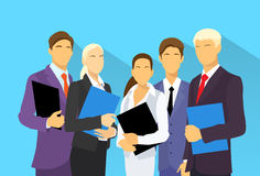 Business people group human resources flat vector Stock Images