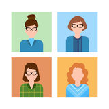 Business People Group Icon Set Woman Businesspeople Team Office Worker Royalty Free Stock Photo