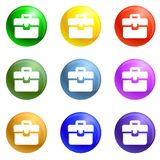 Business people group icons set vector royalty free illustration
