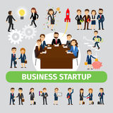 Business people group icons Stock Image