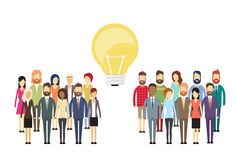 Business People Group Idea Concept Light Bulb, Businesspeople Crowd Stock Photography
