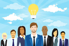 Business People Group Idea Concept Light Bulb Stock Photography