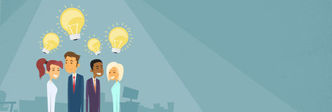 Business People Group Idea Concept Light Bulb Royalty Free Stock Image
