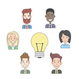 Business People Group Idea Concept Light Bulb Stock Photos