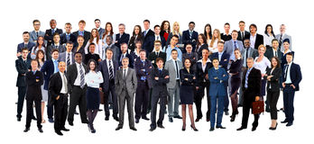 Business people group. Isolated over white background Royalty Free Stock Photography