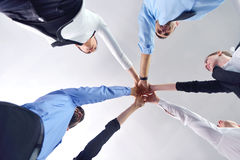 Business people group joining hands Stock Images