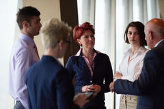 Business people group on meeting at modern bright office Stock Photo