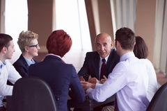 Business people group on meeting at modern bright office Stock Images