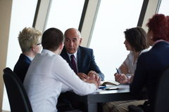 Business people group on meeting at modern bright office Royalty Free Stock Images