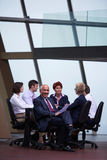 Business people group on meeting at modern bright office Stock Image