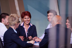 Business people group on meeting at modern bright office Stock Photography