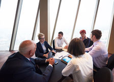 Business people group on meeting at modern bright office Royalty Free Stock Photography
