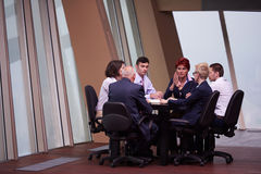 Business people group on meeting at modern bright office Stock Photos