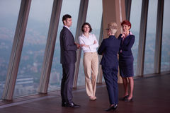 Business people group on meeting at modern bright office Royalty Free Stock Photo