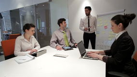 Business people group on meeting at modern startup office, stock video footage