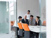 Business people group on meeting at modern startup office Royalty Free Stock Photo