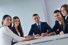 Business people group in a meeting at office Stock Photos