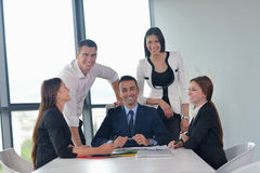 Business people group in a meeting at office Royalty Free Stock Image