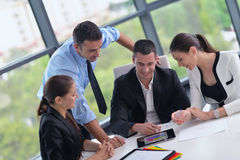 Business people group in a meeting at office Royalty Free Stock Images