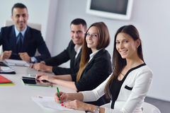 Business people group in a meeting at office Stock Photography