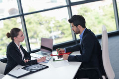 Business people group in a meeting at office Royalty Free Stock Photography