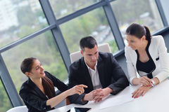 Business people group in a meeting at office Royalty Free Stock Photos
