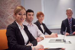 Business people group on meeting Royalty Free Stock Photography