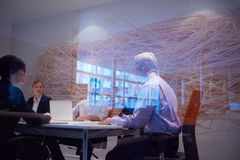 Business people group on meeting Royalty Free Stock Photo