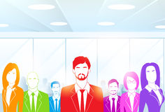 Business People Group at Office Colorful Vector Royalty Free Stock Image
