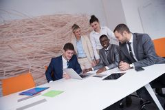 Business people group at office Royalty Free Stock Photos