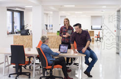 Business people group portrait at modern office Stock Image