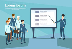 Business People Group Presentation Flip Chart Finance, Team Training Conference Meeting Stock Images