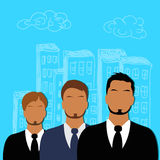Business, people, group, profile, team, flat style for web Stock Photos