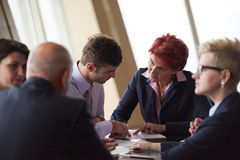Business people group sign contract Royalty Free Stock Image