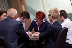 Business people group sign contract Stock Photography