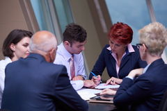 Business people group sign contract Royalty Free Stock Photography