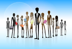 Business people group silhouette executives team Stock Photo