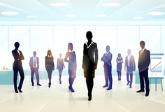 Business People Group Silhouette Executives Team Royalty Free Stock Photography
