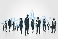 Business People Group Silhouettes Businesspeople Royalty Free Stock Image