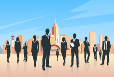 Business People Group Silhouettes Businesspeople Stock Photography