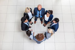 Business People Group Standing In Circle Top Angle View, Businesspeople Stock Images